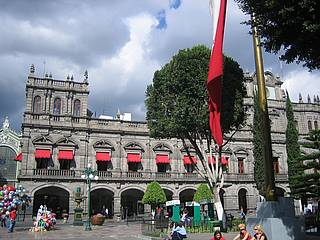 Hauptplatz in Puebla, Mexiko