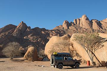 Campen in Namibia