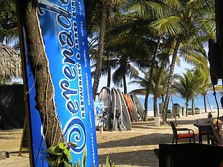 Dominikanische Republik Cabarete Strand Bar